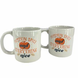Pumpkin Spice and Everything Nice Set of 2 Mugs